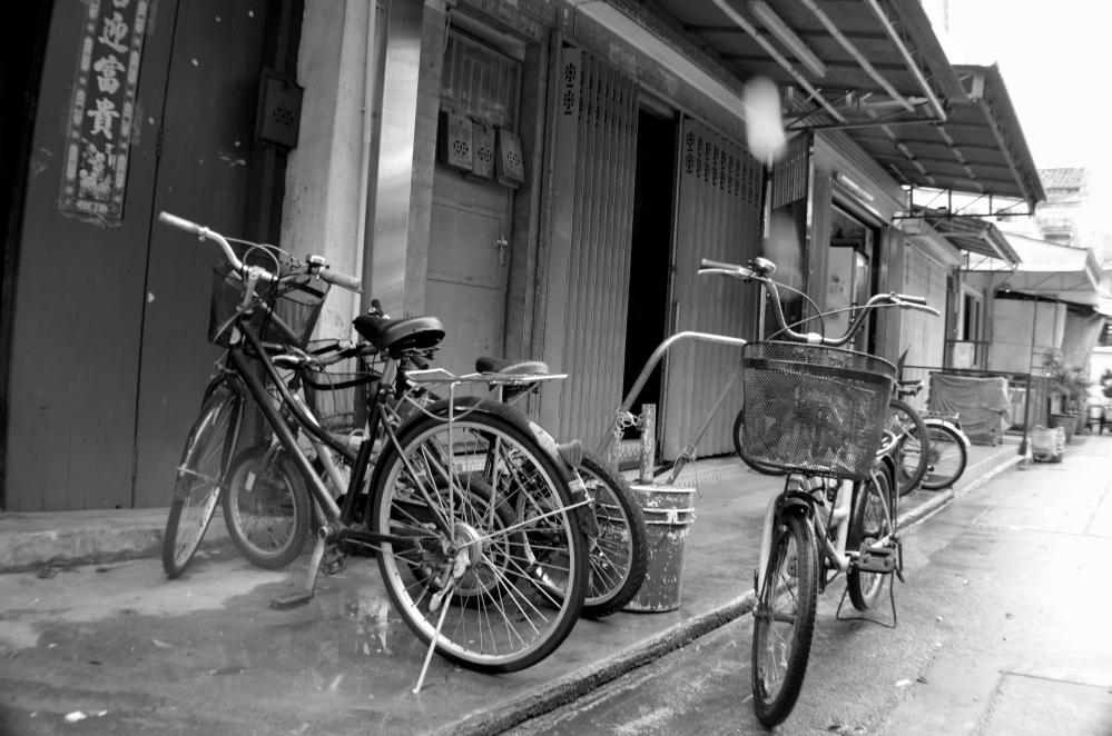 Tai O village Bikes